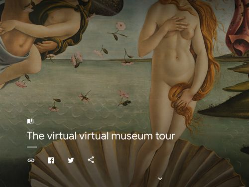You can check out out more than 1,000 of the world's finest art museums online for free through Google - take a look inside