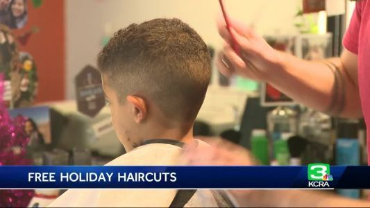 Sac holiday haircut event promotes bonding between dads and their kids