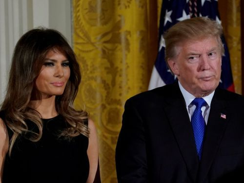 People can't stop talking about how Melania Trump seems to avoid holding the president's hand - here's what it might say about their relationship