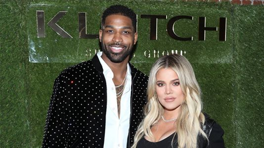 Tristan Thompson Cradles Khloé Kardashian's Baby Bump at an NBA All-Star Party