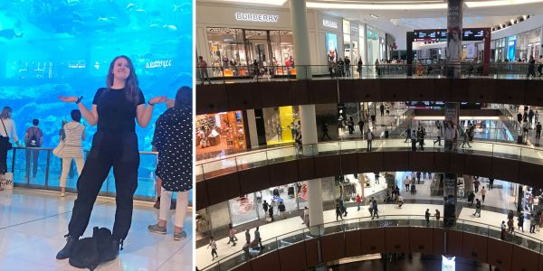 I spent 2 days at The Dubai Mall, one of the world's largest shopping malls, which is so big it contains an aquarium - but I kept getting too lost to actually enjoy the shopping