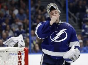 Vasilevskiy, Point help Lightning beat Blue Jackets 4-0
