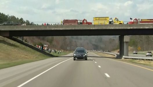 Pictures: Billy Graham's body makes its way to Charlotte