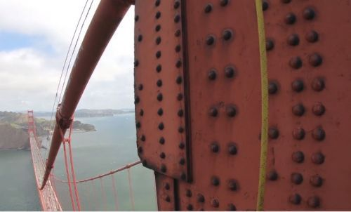 Video: See what it's like on top of the Golden Gate Bridge