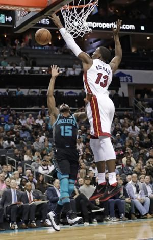 Whiteside comes up big off bench as Heat beat Hornets 91-84