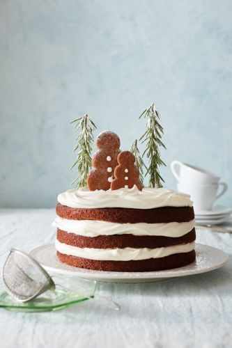 Gingerbread Cake with Maple-Mascarpone Whipped Cream
