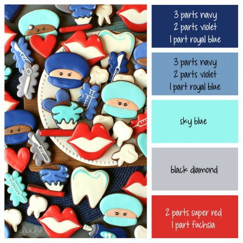 Oral Surgeon Color Palette and Icing Formulas