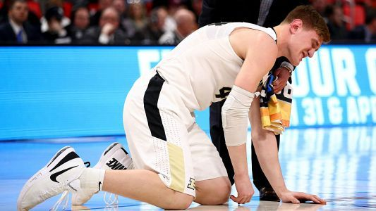 March Madness 2018: NCAA working to allow Purdue's Isaac Haas to wear brace on injured elbow