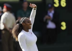 The Latest: Williams through to 10th Wimbledon final