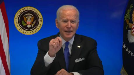 WATCH: White House abruptly cuts live feed after Biden says 'happy to take questions' at virtual event