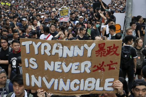 Beijing tells Hong Kong protesters not to become U.S. pawns