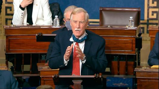 Sen. Angus King On Trump's Second Impeachment Trial, Relief Package