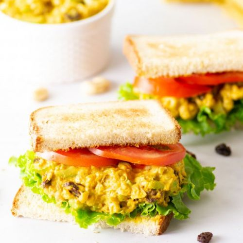 Curried Chickpea Salad Sandwich