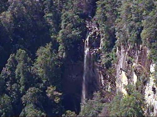 Man trying to save dog dies at waterfall, fire chief says