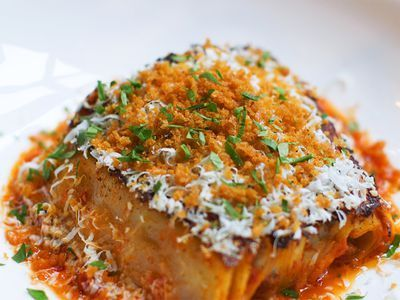 Watch: A Crispy, Complex Lasagna Loaded With Smoked Duck
