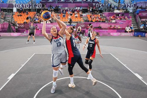 US women win first Olympic 3-on-3 basketball game with First Lady Jill Biden in attendance