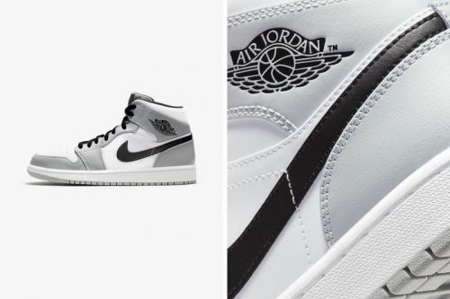 "The Air Jordan 1 Mid Arrives in a Clean ""Light Ash/White/Black"" Colorway"