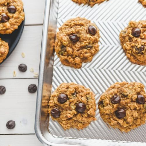 Pumpkin Oat Chocolate Chip Cookie