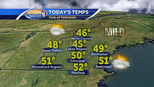 Spring-like feel! Highs in 40s, 50s for many