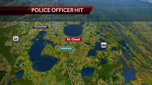 Police officer hit by suspect's car, suspect flees