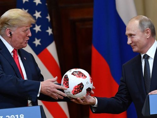 The soccer ball that Putin gave to Trump has a chip inside that transmits to nearby phones