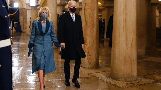 Dr. Jill Biden Wears Custom Markarian to the 2021 Presidential Inauguration