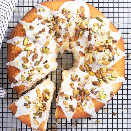 Lemon Pistachio Coffee Cake