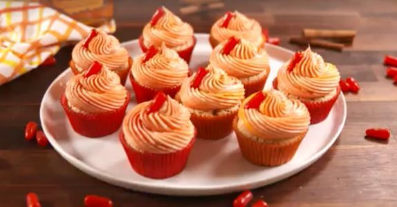 Fireball-Spiked Cupcakes Are Here To Light Up Your Holiday Spread