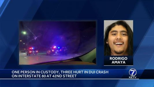 3 people hurt, 1 arrested in suspected DUI hit-and-run Sunday