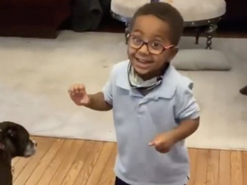 This Little Boy's Reaction To Getting His Black Panther Halloween Costume Will Make Your Entire Day