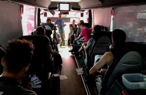 What goes on inside a Tour de France bus during those closed-door meetings