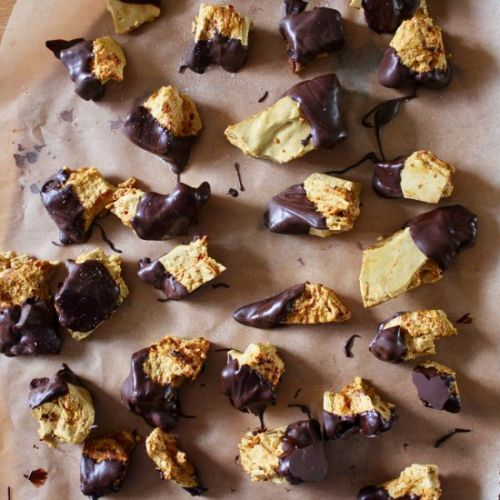 Chocolate dipped honeycomb