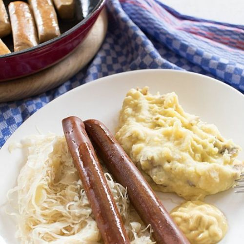 Vegan Sausage with Sauerkraut