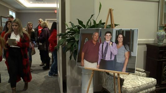 'One of a kind:' Standing room only as people pay respects to Trevor Canaday