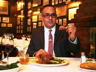 Watch: Tackling the Two-Pound Mutton Chop at a Classic NYC Steakhouse
