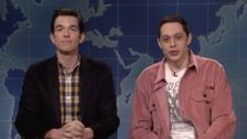 Pete Davidson Returns To 'Weekend Update' Desk With John Mulaney
