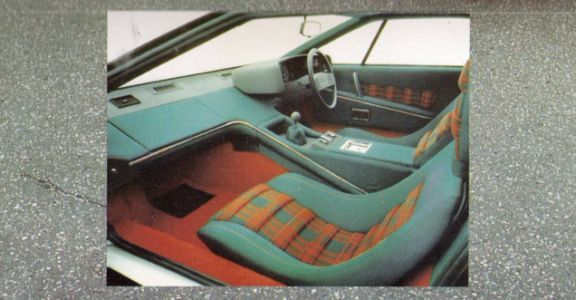 I'd like to think the interior designer for this Lotus Esprit in 1976 was just given a scrap of pape