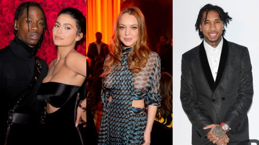 Kylie Jenner And Travis Scott Reportedly LOLd When They Heard Lindsay Lohan Was Flirting With Her Ex Tyga