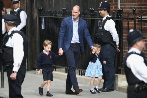 Adorable Photos of Prince George and Princess Charlotte Arriving at the Hospital
