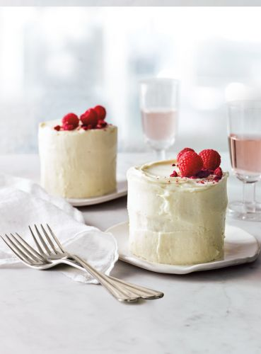 Champagne and Raspberry Mini Layer Cakes