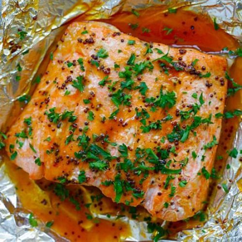 Spicy Honey Salmon in Foil
