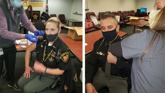 Deputies with Butler County Sheriff's Office get COVID-19 vaccine