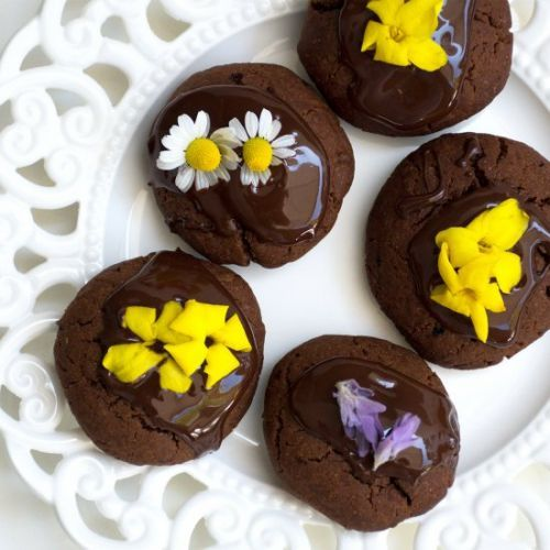Vegan Chocolate Cookies With Edible