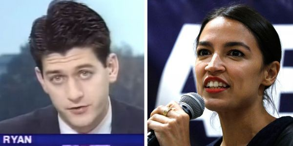 'Double standards': Alexandria Ocasio-Cortez says Paul Ryan was hailed a 'genius' when he was elected at 28 but she gets called a 'fraud'