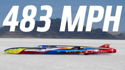 A New Wheel-Driven Speed Record Has Been Set At The Bonneville Salt Flats