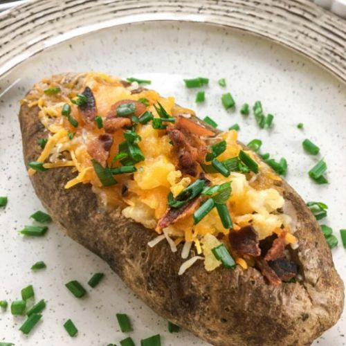 Cheesy Loaded Stuffed Potatoes