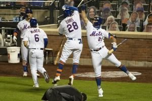 Mets hit 3 HRs, end makeshift Marlins' 6-game win streak 8-4