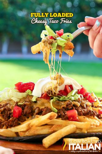 Fully Loaded Cheesy Taco Fries
