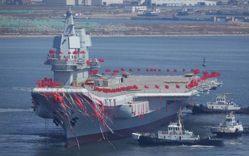 Chinese newest aircraft carrier may start sea trials this week - and could join the fleet a year ahead of schedule, amid a growing rivalry with the US