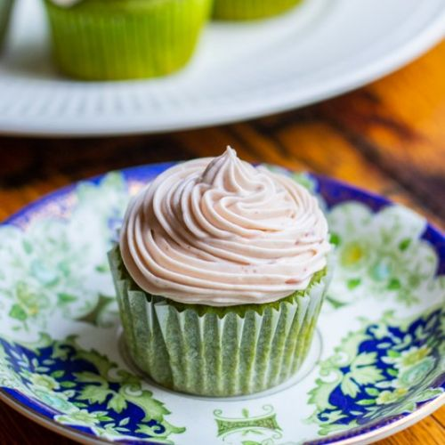 Matcha Cupcakes with Azuki Frosting